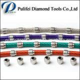 Il taglio di pietra del diamante che profila il collegare del granito degli strumenti del diamante della corda ha veduto
