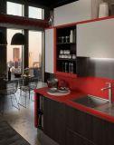 Glanz-Lack-Küche-Schrank-einfache Entwürfe