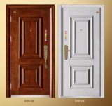 Porta exterior da porta de aço do ferro da porta da segurança do fornecedor de China da porta (FD-1003)