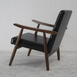 Modernes Design Solid Wood Sofa Chair mit Leather Soft