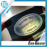Le collant transparent amovible de PVC estampe l'étiquette de carte de couleur