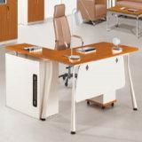 사무용 가구를 위한 티크 목제 L 모양 행정상 책상 사무실 책상