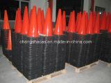 Cono de la base del negro de la seguridad en carretera del tráfico del PVC