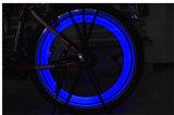 Engrenagem reflexiva da segurança da noite das cores do néon do brilho luz colorida do diodo emissor de luz do Lit do raio da roda do pneu da bicicleta da melhor