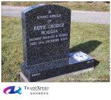 Rechte Grafsteen van de Stijl van het Graniet van de Aard van het Ontwerp van de klant de Amerikaanse voor Gedenkteken