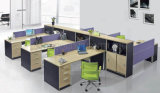 Classic Black Elegant Design Office Poste de travail 6 places (SZ-WSL305)