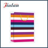 Лоснистые прокатанные сумки бумаги подарка нашивок бумаги искусствоа цветастые широкие