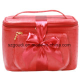 Rotes Travel Cosmetic Packing Toiletry Makeup Fall mit Bag