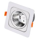 Escudo de alumínio quadrado com as lâmpadas leves de 1 diodo emissor de luz do ponto de iluminação 85-265V do teto do projector da montagem 15W da ESPIGA