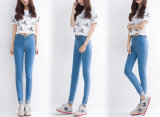 Alto Waist Pencil Denim Women Jeans con Strong Stretch