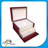Customized Leather Large 2 - Layer Single Watch Storage Box with Drawer