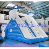 商業用等級プールが付いている膨脹可能な水スライドかAmusemmentの膨脹可能なスライド