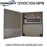 12VDC 10AMP 18CH Metallschrank CCTV-Netzverteilungs-Kasten (12VDC10A18PN)