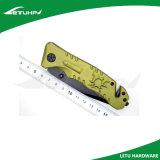 Cuchillo táctico de la supervivencia del propósito multi con el cortador del cinturón de seguridad