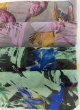 Новым ромбовидным напечатанная Organza ткань одежды