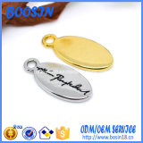 Mini encanto oval modificado para requisitos particulares de la insignia de la dimensión de una variable para la joyería