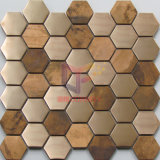 최신 New Hexagon Shape Crystal Mix Stainless Steel와 Aluminium Mosaic (CFM969)