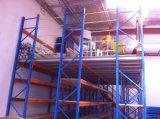 A cremalheira resistente do armazenamento do armazém suportou o mezanino