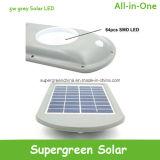 La lumière solaire 5W DEL de jardin automatique obscurcissent hors fonction