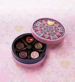 Round de lujo Paper Gift Box/Packing Box para Chocolate