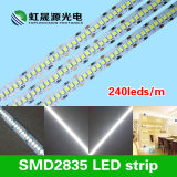 luz de tira flexible de dc los 240LEDs/M SMD2835 LED de 12V/24V con el Ce, RoHS
