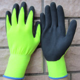 Il nitrile del Sandy ha ricoperto il guanto di nylon del lavoro di sicurezza dei guanti dei guanti Ciao-Cioè