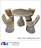 옥외 가구를 위한 자연적인 화강암 앙티크 정원 돌 테이블 그리고 의자
