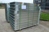 Tiras de aluminio israelíes de Fangda Puerta de acero interior revestida de PVC