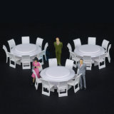 Diecast Round Furniture, Model Chair и Table (8 PCS/комплектов)