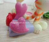 Decoração do Figurine do gatinho do Valentim da resina