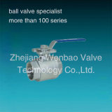 Edelstahl 2PC High Platform Female Threaded Ball Valve