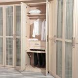 현대 도매 멜라민 유리제 문 (YG11328)를 가진 나무로 되는 침실 옷장
