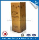 Подгонянная бумажная твердая картонная коробка для упаковки бутылки