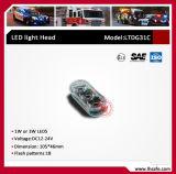 지상 마운트 4 LED 스트로브 경고 위험 Lighthead (LTDG31C)