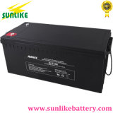 batterie solaire de mises sous tension AGM de cycle profond d'acide de plomb de 12V200ah