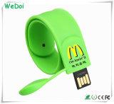 주문을 받아서 만들어진 로고 (WY-S16)에 고속 팔찌 USB 지키