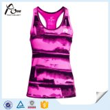 Ladies su ordinazione Sublimated Running Singlet con Integral Bra