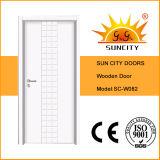 最上質の現代MDFの木のドア(SC-W082)