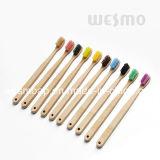 Brosse à dents brun foncé respectueuse de l'environnement de bambou de brin