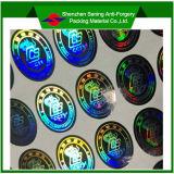 Etiqueta holográfica da segurança do resíduo elevado