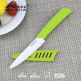 Fábrica de China cuchillo de cerámica de la fruta de 4 pulgadas con la envoltura