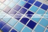 grens van het Mozaïek van het Glas van het Ontwerp van de Driehoek van 20X20mm de Blauwe Smeltende (BGEB005)