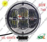 La meilleure qualité ! ! lumière de travail du CREE LED de 7inch 60W, lumière de travail de 12V 24V LED, lumière imperméable à l'eau de travail de LED