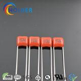 Tipo película roja del condensador del poliester mini para el LED