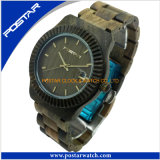 Montre de bracelet de montres des hommes en bois des prix bon marché avec la qualité imperméable à l'eau