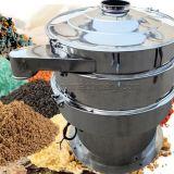 O farelo de arroz, farinha da soja, especiarias, amido, adoça a tela de vibração giratória