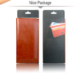 Caixa móvel da carteira do telefone dos acessórios da cor extravagante de Brown para o universal de Smartphones