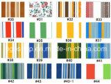 Het pvc Gelamineerde Patroon van de Strook van de Druk van het Geteerde zeildoek (500dx500d 18X12 360g)