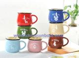 Articoli per la tavola d'imitazione della tazza di caffè della tazza dello smalto della tazza di ceramica di Sunboat retro