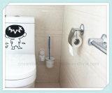 Держатель щетки туалета ванной комнаты установленный стеной с чашкой всасывания